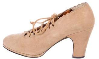 Robert Clergerie Suede Lace-Up Booties