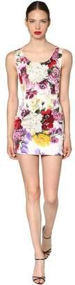 Dolce & Gabbana Floral Printed Charmeuse Mini Dress
