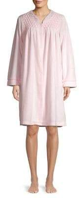 Miss Elaine Embroidered Long-Sleeve Night Gown