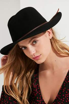 Urban Outfitters Structured Brim Felt Panama Hat
