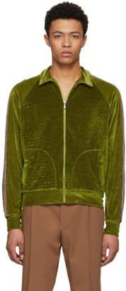 Bottega Veneta Green Chenille Jersey Track Jacket