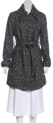 Donna Karan Bouclé Knee-Length Coat w/ Tags