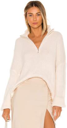 L'Academie Oliver Zip Up Sweater