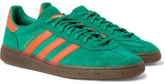adidas Handball Spezial Leather-Trimmed Suede Sneakers - Men - Green