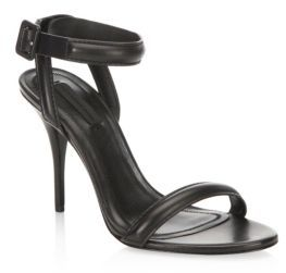 Alexander Wang Antonia Leather Ankle-Strap Sandals $475 thestylecure.com