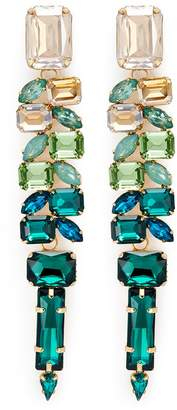 Jardin Ombré strass link statement earrings