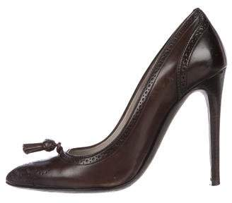 Tom Ford Brogue Leather Pumps