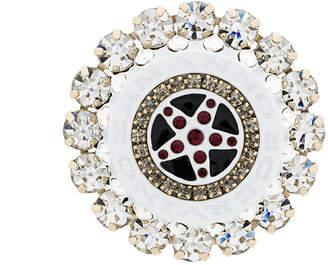 Ermanno Scervino round embellished brooch