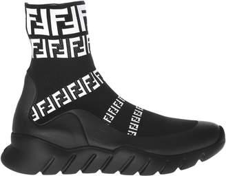 Fendi Logo Sock Boots