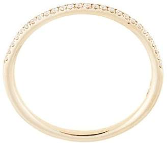 Natalie Marie 14kt yellow gold Queenie half diamond ring