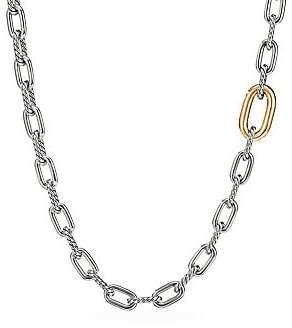 David Yurman Madison 18K Yellow Gold & Sterling Silver Long Chain Necklace