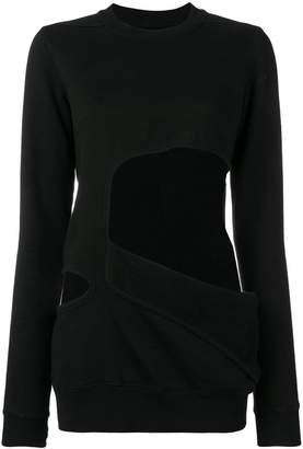 Rick Owens cut-out sweatshirt