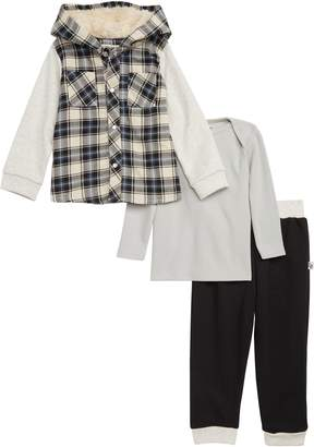 Pippa Little Brother by & Julie Hooded Jacket, Thermal Top & Sweatpants Set