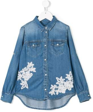 Ermanno Scervino lace applique shirt