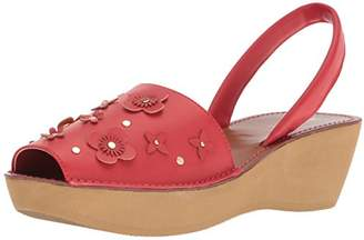 Kenneth Cole Reaction Women's Fine Glass Floral Wedge Backstrap Sandal