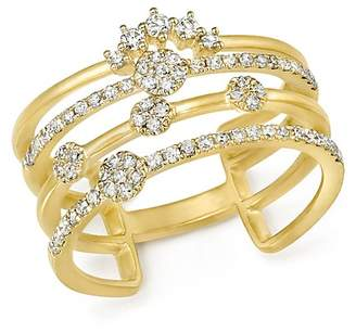 Meira T 14K Yellow Gold Four Band Diamond Ring