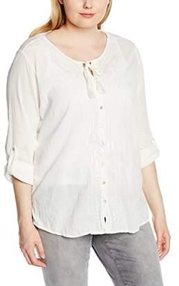 Via Appia Women's Regular Fit Long Sleeve Blouse - Off-White