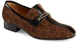 Gucci Suede Square G Loafer With Stripe
