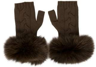 Yves Salomon Fox Fur Fingerless Gloves w/ Tags