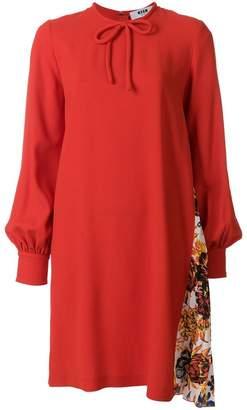 MSGM contrast panel dress