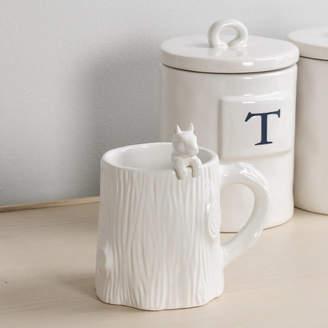 Marquis & Dawe White Ceramic Squirrel Mug With Stirrer