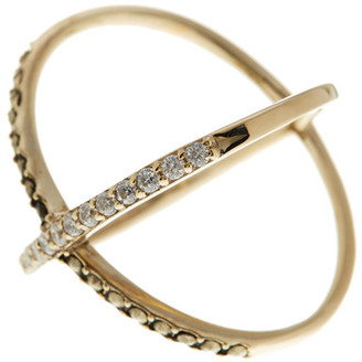 Judith Jack 10K Gold Plated Sterling Silver Rings & Things Crossover Ring - Size 7 $115 thestylecure.com