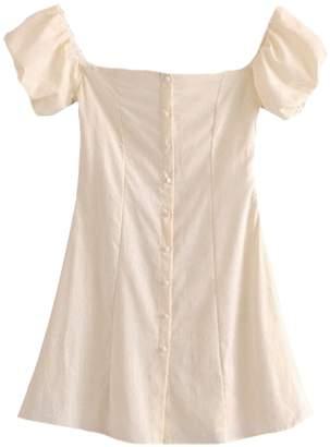 Goodnight Macaroon 'Tabitha' Linen Babydoll Mini Dress (2 Colors)