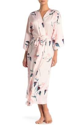 Shimera Satin Printed Kimono Robe