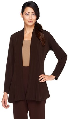 Susan Graver Liquid Knit Long Sleeve Open Front Cardigan