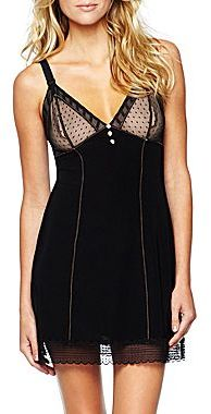 JCPenney Cosmopolitan Mesh Lace Chemise