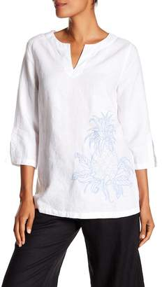 Tommy Bahama Two Palms Embroidered Linen Tunic