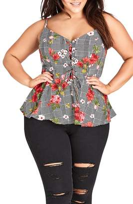 City Chic Sloane Floral Sleeveless Top