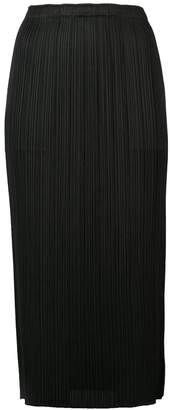 Pleats Please Issey Miyake pleated mid-lenght skirt