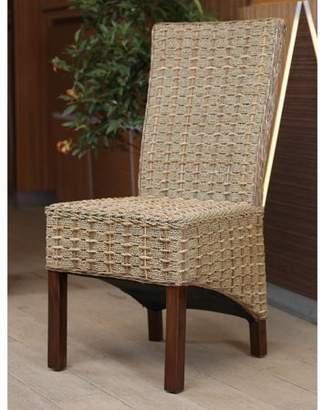 At Walmart.com · International Caravan Bayu Banana/Seagrass Dining Chair  With Mahogany Hardwood Frame   Salak Brown