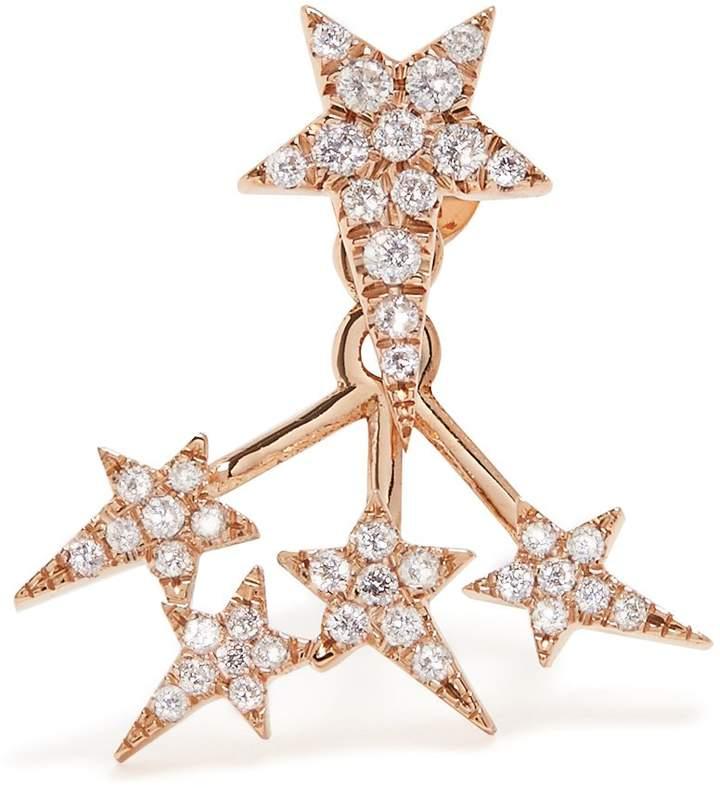 Diane Kordas Diamond & rose-gold Star single earring