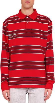 Martine Rose Striped Cotton Polo Shirt