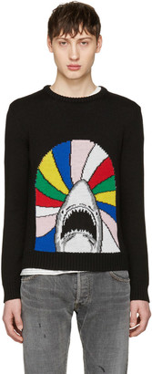 Saint Laurent Black Shark Sweater $990 thestylecure.com