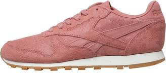 b5fa71b26991 Reebok Classics Womens Leather Clean Exotics Trainers Sandy Rose Chalk Gum