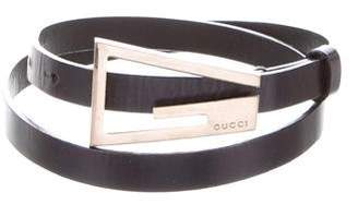 Gucci Leather Skinny Belt