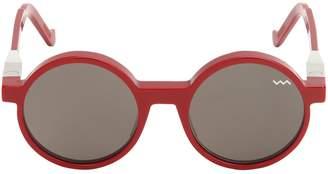 Va Va Iconic Round Acetate Sunglasses