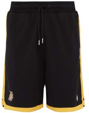 Marcelo Burlon County of Milan La Lakers Cotton Shorts - Mens - Black Multi