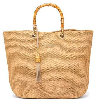 Heidi Klein Savannah Bay Bamboo Handle Raffia Tote - Womens - Cream