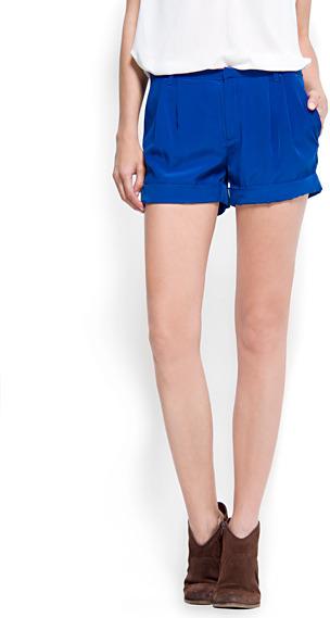 Satin-finish shorts