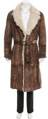 Gucci Shearling-Lined Suede Coat