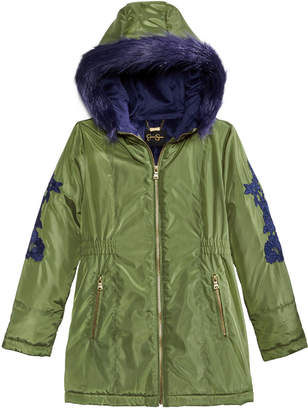 Jessica Simpson Big Girls Embroidered Parka