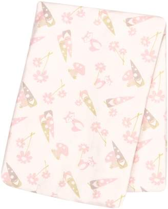 Trend Lab Garden Gnomes Deluxe Flannel Swaddle Blanket