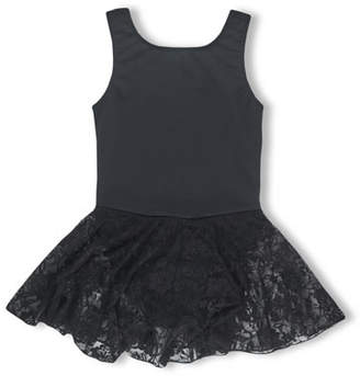 Girl Power Sport Ballet Power Skirted Leotard, Black, Size 5-12