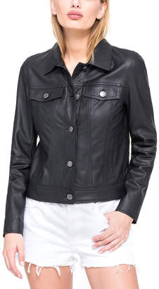 Andrew Marc Fallon Feather Leather Jacket