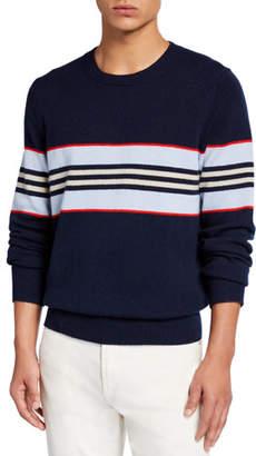 Burberry Men's Furlong Striped Cashmere Sweater