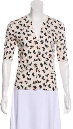 Marc by Marc Jacobs Button-Up Printed Sweater